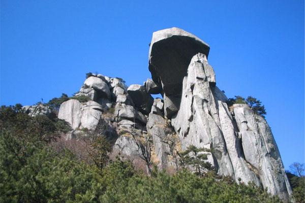 石狮双架山风景照片