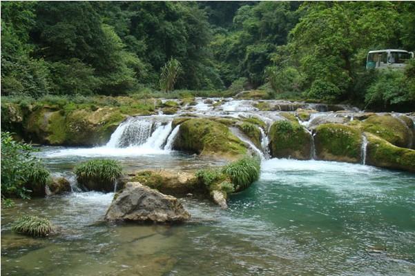 贵州黄果树大瀑布,荔波大小七孔 双卧五日游